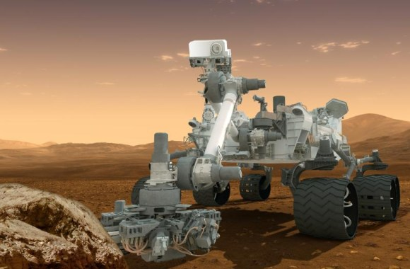 This artist's concept features NASA's Mars Science Laboratory Curiosity rover, a mobile robot for investigating Mars' past or present ability to sustain microbial life. Image credit: NASA/JPL-Caltech