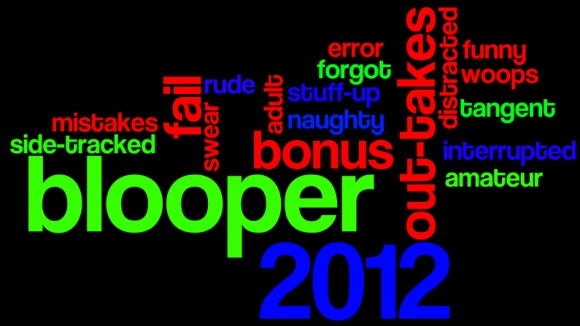 2012 Blooper Word Cloud