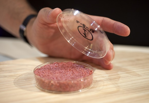 A burger made from Cultured Beef Image: David Parry / PA Wire