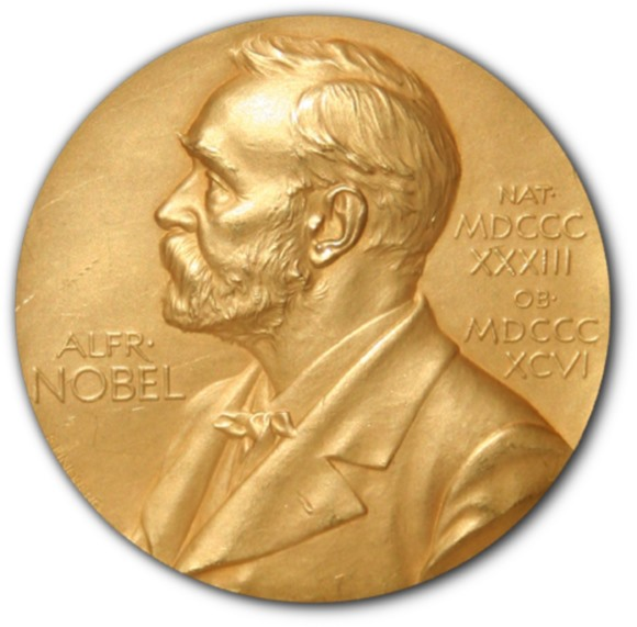 Front side (obverse) of one of the Nobel Prize medals in Physiology or Medicine awarded in 1950 to researchers at the Mayo Clinic in Rochester, Minnesota. Image: Jonathunder / Wikipedia